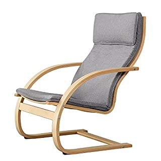 Orolay Fauteuil Confortable Structure Bouleau Flexible Gris