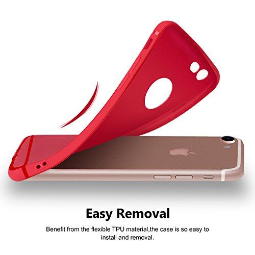 Custodia per iPhone 6 Plus, Cover per iPhone 6S Plus, Aksuo Ultra Sottile Slim Morbida [Leggera] Trasparente Silicone Gel Cover TPU Antigraffio Antiscivolo Case Cover per iPhone 6 Plus 6S Plus (5.5 ) Rosso