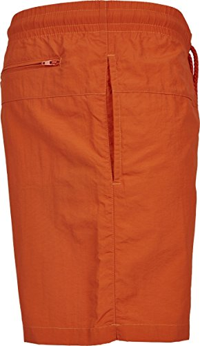 Block Swim Shorts Rust Orange