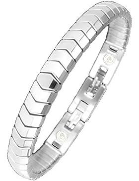 Elegantes Flex Energie Magnetarmband Energetix 4you 439 flexibel silber matt + poliert Magnetix Design M L XL