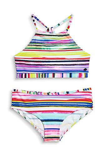 ESPRIT Mädchen Hazel Beach YG Americ Neck+hip Badebekleidungsset Rosa (Pink Fuchsia 660) 140 (Herstellergröße: 140/146)
