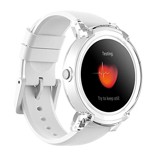 Ticwatch E Ice Smartwatch Bluetooth Montre Connectée avec écran OLED 1, 4 Pouces, Android Wear 2.0, Sportswatch Compatible avec Android et iOS, Langue française Disponible Disponible