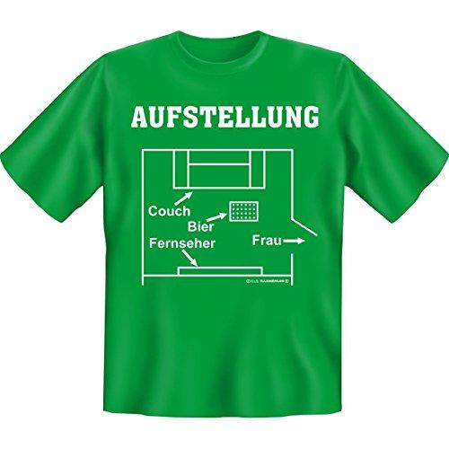 Lustiges Fun T-Shirt: Aufstellung (Größe: XL) (T-Shirtfarbe: Hell-Grün) (T-shirt Aufstellung)