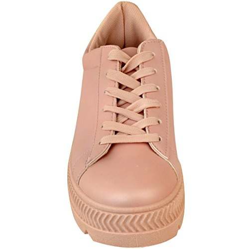 Mode Soif Heelberry Noir Forme Plate Wedge Formateurs Pour Femmes Sport Chaussures Sport Travail Creepers Taille Pina Pastello En Similicuir