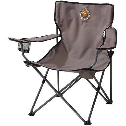 Grand Canyon Director- Silla de camping plegable, acero, gris/negra