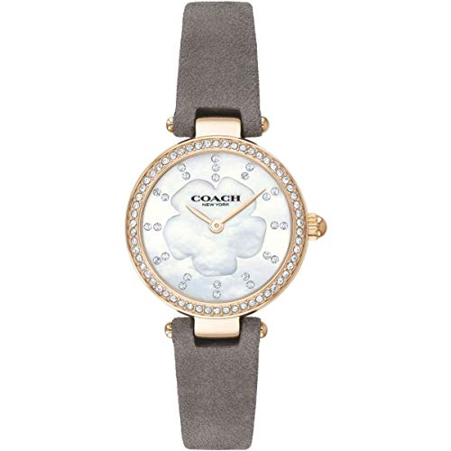 Coach Womens Modern Luxury Grey Leather Strap Mother of Pearl 14503104