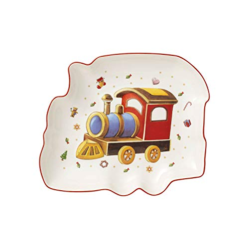 Villeroy & Boch Toy's Delight Coupelle en forme de locomotive, Porcelaine Premium, Blanc/Rouge