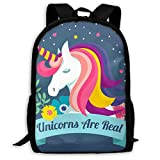 3D Printing Adult Shoulder Bag Unicorns Are Real School Backpack Bag ILY Bag Hiking Bag for Men and Women