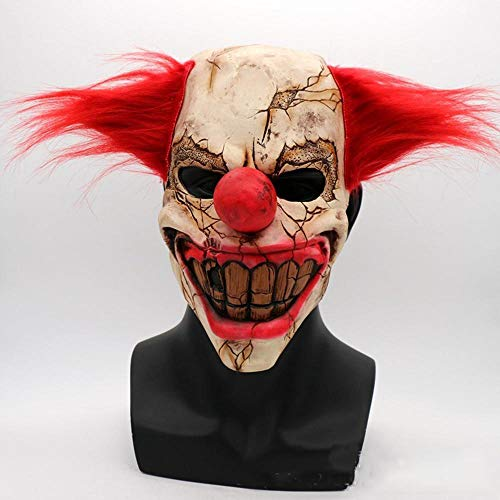 Circlefly Horror-Ghost Face Clown Maske Halloween Weihnachten Bar Kugel Requisiten beängstigend Latexmaske