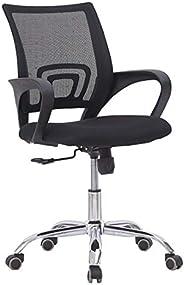 كرسي مريح دوار 360 درجة بارتفاع قابل للتعديل بمسند ظهر شبكي بلون اسود للمنزل والمكتب والالعاب والكمبيوتر واللا