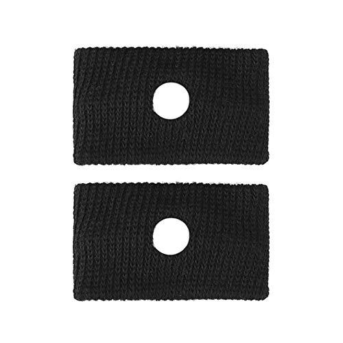 GAOXUQIANG 1 para Anti Übelkeit Handgelenkstütze Sport Sicherheit Armbänder Autokrankheit Seekrankheit Anti Bewegungskrankheit Handgelenkbänder,Black -