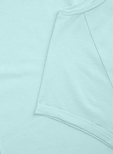 oodji Ultra Donna T-Shirt in Cotone Basic Blu (7000N)