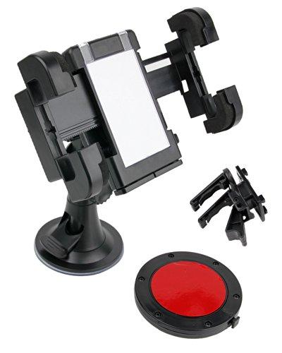 DURAGADGET Auto Halterung für LG P895 Optimus Vu Smartphone (Befestigungsvorrichtung für Windschutzscheibe, Armaturenbrett, Lüftungsgitter)