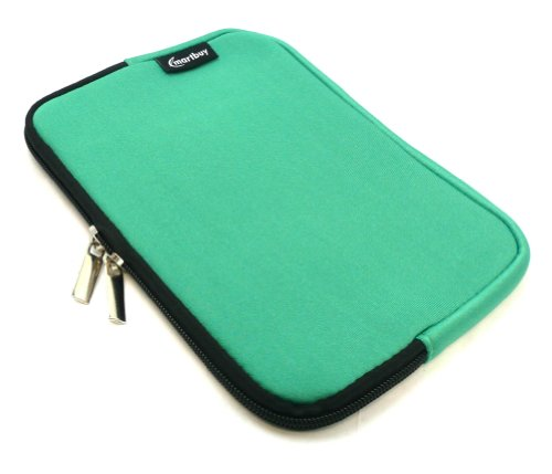 Emartbuy® Grün Wasser Resistant Neoprene Weich Zip Case Cover Tasche Hülle Sleeve Geeignet Für I.onik TP - 1200QC 7.85 Inch Tablet (8 -Zoll-Tablet)