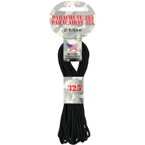 Parachute cordon 3mm 21 pieds/Pkg-noir
