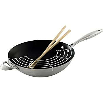 Scanpan CTX 32 cm Wok with Rack And Sticks