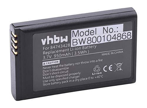 vhbw Li-Ion Akku 950mAh (3.7V) für schnurlos Festnetz Telefon Spectralink 5020, 5040, Kirk 5020 wie 84743424, ICP73048. Spectralink Batterie Pack