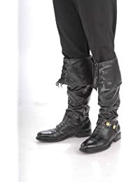 Deluxe Black Pirate Boot Tops Adult Costume Accessory