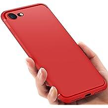custodia iphone 8 silicone rossa