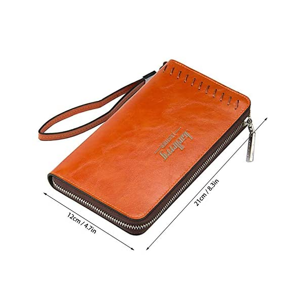 41uPzw9cM6L. SS600  - Young & Ming - Grande Cartera Piel Billetera de cuero Hombre y Mujer para tarjeta de crédito