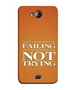 PrintVisa Designer Back Case Cover for Micromax Bolt Q338 (Attitude Inspiration Motivation Crack Coaching Stab Beautiful Attempt)