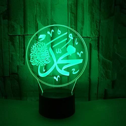 Islamische Muhammad Ara Farbe Nachtlichter Kinder Touch Tisch Baby Schlaf Nachtlicht -
