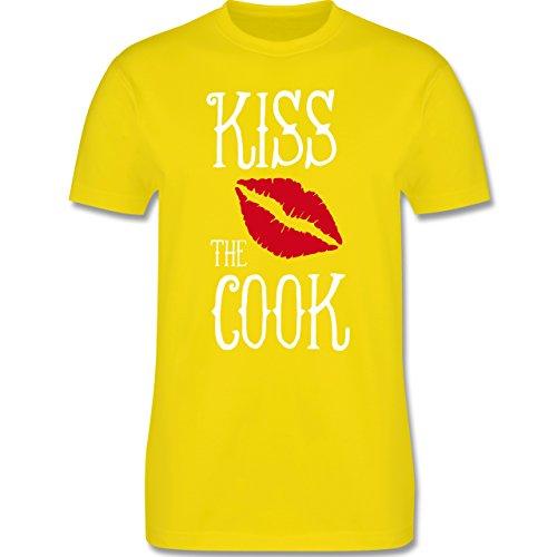 Küche - Kiss the cook - Herren Premium T-Shirt Lemon Gelb