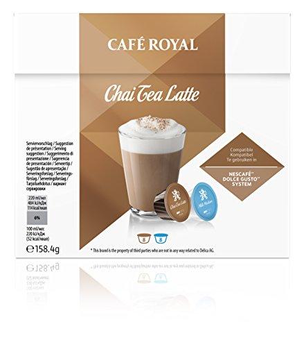 Café Royal Chai Tea Latte Neue Generation, 48 kompatible Kapseln für Nescafé Dolce Gusto, 3er Pack (3 x 16 Kapseln)