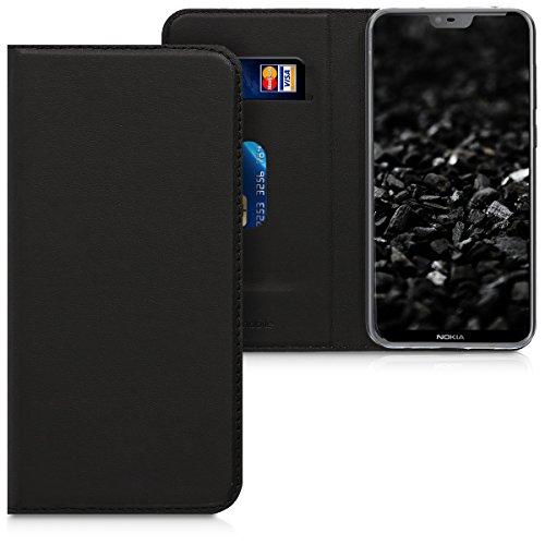 kwmobile Nokia 6.1 Plus (2018) / X6 Hülle - Kunstleder Handy Schutzhülle - Flip Cover Case für Nokia 6.1 Plus (2018) / X6
