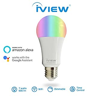 Iview-Isb600 Smart Wi-Fi LED-Glühlampe, Multi-Color, Dimmible, kein Hub Required, kostenlose App Remote Control, arbeitet mit Alexa