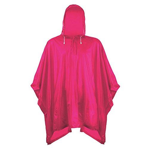 Splashmacs Unisex Regenponcho / Regencape für Erwachsene Einheitsgröße,Fuchsia