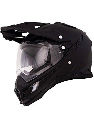 O'Neal Sierra Adventure Enduro Helm matt schwarz aerodynamischer Motorradhelm mit Sonnenblende, 0815-40, Größe Medium (57 – 58 cm) - 2