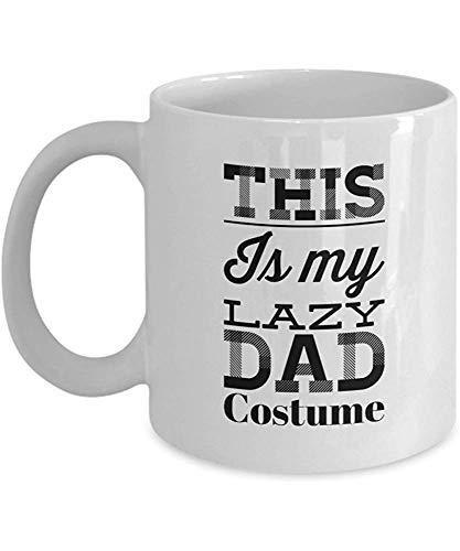 Kostüm Etwas Faul - Benutzerdefinierte Keramik Teebecher,einzigartige Porzellanschale,lustige Papa Geschenke 11 Unzen Kaffeetasse-dies ist meine faule Papa Kostüm