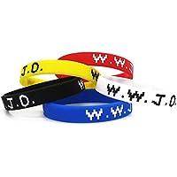 Lorh's store Basketball Star Allen Iverson Gleichen Stil WWJD Armband Sport Silikon Armbänder 5 Stück