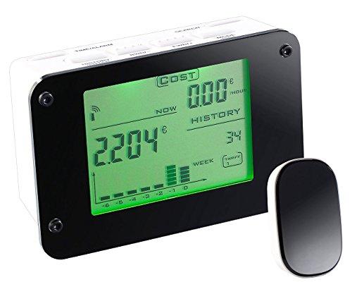 CASAcontrol Stromzähler: Funk-Energiekostenmesser für den Sicherungskasten, mit Alarmfunktion (Stromzähler für Sicherungskasten)