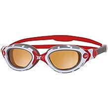 Zoggs Predator Flex Polarized Ultra - Gafas de natación, multicolor (white/red/silver), Talla única
