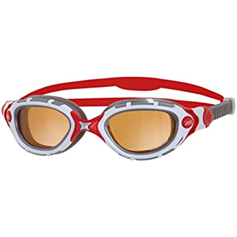 Zoggs Predator Flex Polarized Ultra Ladies Swimming Goggles, Color- White/pink