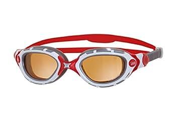Zoggs Predator Flex Pol Ultra Occhialini da Nuoto, Copper/Bianco/Rosso