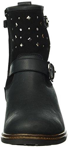 Lepi 3529lep, Bottes courtes avec doublure chaude fille Noir - Schwarz (3529 C.08 Nero)