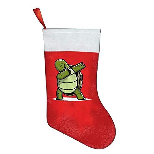 Decams tamponare calze di natale classico divertente tartaruga holiday santa claus merry christmas