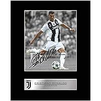 Cristiano Ronaldo Foto mit Autogramm von Juventus FC
