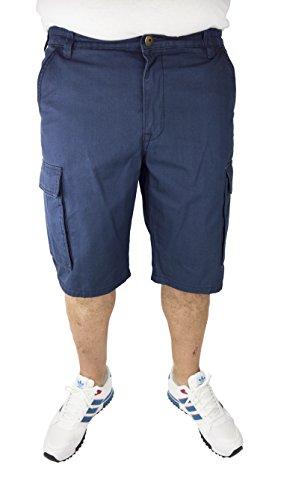 Cargo Plus Größe Shorts (Herren Cargo Bermuda Shorts kurze Hose (58, Marine) in den Größen 60, 62, 64, 66, 68, 70, XL, XXL, 3XL, 4XL, 5XL, 6XL, Große Größen, Übergröße, Big Size, Plus Size)