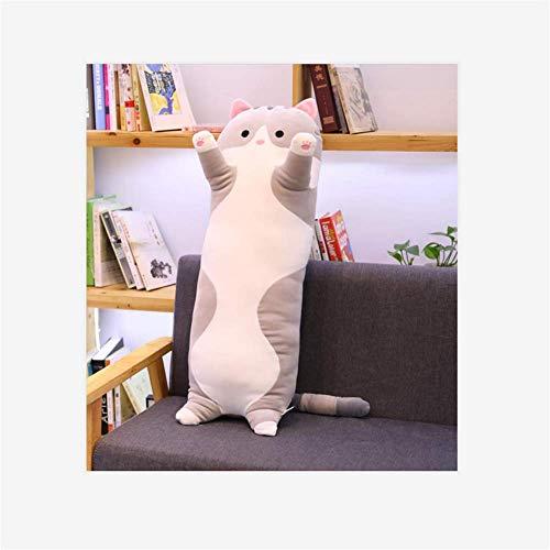 BEIHAO Dessin animé en Peluche Animal Bande Douce Lapin Chat Chat Chaton Oreiller Jambe Dormir Compagnon Animal Jouet Cat 02 110CM