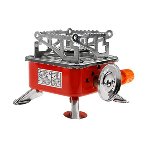 Kriva Outdoor Portable Windproof Square-Shaped Gas Butane Burner for Outdoor Survival Camping Hiking Picnic Kitchen Stove Easy to Carry