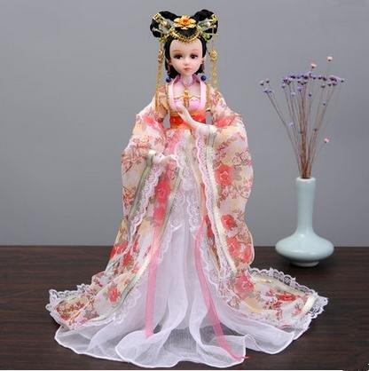 JuanRen Chinesische Stil Handwerk/Alte Kostüm Peking Oper Puppen/Zuhause Wohnzimmer TV Schrank Dekorationen/Ornamente / Lucky Dolls/Mädchen Geschenke, 4#
