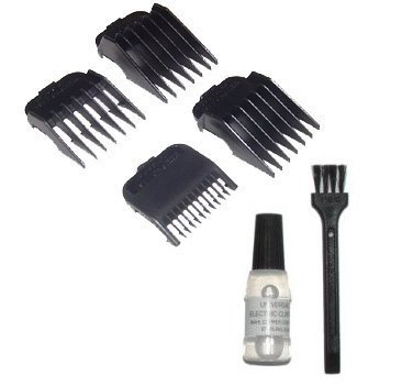 Wahl 4 Attachment Comb Set - for Wahl Super Taper, Chromepro, Balding, Magic 5 Star and other Wahl Clippers