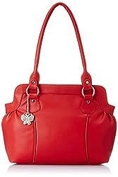 Butterflies Trendy Handbag (Red) (BNS 0217 RD)