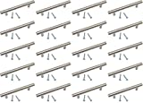 Edelstahl-Griff für Küchenschrank / Schrank, 96 mm Lochabstand, 136 mm lang