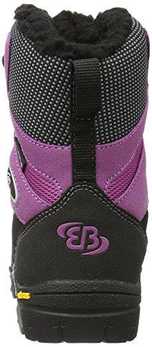 EB-Kids 721025, Bottes de Neige Fille Noir (Schwarz/Lila)