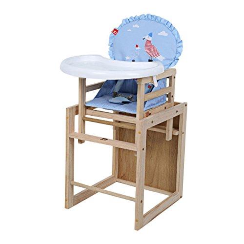 Kinder-Esszimmerstuhl Stuhl aus massivem Holz Baby-Essplatz Esszimmerstuhl mit Tisch, Stühlen und Stühlen Kinderhocker Kindersessel (Color : Wood Color, Size : 43.5cm*49cm*96cm)
